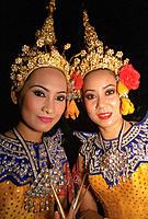 Dancers in ceremonial dress. Bangkok. Thailand