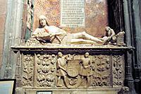 Sepulchre of the ´Doncel de Sigüenza´. Sigüenza Cathedral. Guadalajara province. Spain