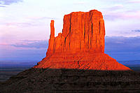 Monument Valley Mesa at dusk. Utah. USA