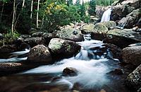 Alberta Falls, Rocky Mountain National Park. Colorado. USA