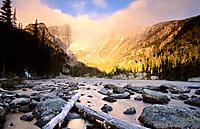 Hallett Peak, Flattop Mountain, and Dream Lake. Rocky Mountain National Park. Colorado. USA