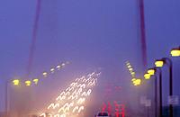 Golden Gate Bridge in fog. San Francisco. CA. USA