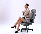 Asian executive woman with a cup of coffee