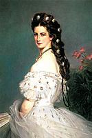 Sissi portrait, by F.X. Winterhalter. Vienna. Austria