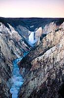 Lower Falls. Grand Canyon. Yellowstone National Park. Wyoming. USA