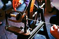 Spinning wheel. Pawtucket. Rhode Island. USA