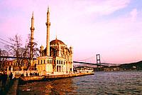 Mecidiye mosque at Ortaköy district. Istanbul. Turkey
