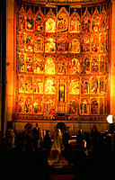 Wedding in the old cathedral. Salamanca. Spain