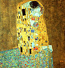 ´The Kiss´ (1907-08) by Gustav Klimt. Österreichische Gallery. Vienna. Austria