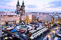 Christmas market. Old Town Square. Pregue. Czech Republic