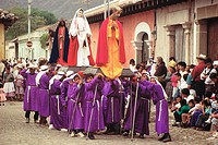 Holy Week procession. Antigua Guatemala. Guatemala
