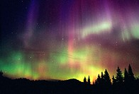 Northern Lights, Aurora Borealis. British Columbia. Canada