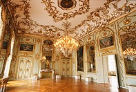 Amalienborg Palace, great hall. Copenhagen. Denmark