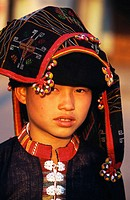 Tai Dam (Black Tai) girl. Muang Sing. North Laos