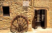 Medieval street. Peratallada. Girona province. Spain