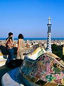 Spain, Catalunya, Barcelona, Gaudi, Parc Guell.