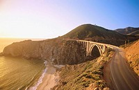 Bixby Bridge in Highway 1, near Big Sur. California. USA