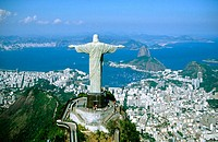 Statue of Christ the Redeemer in Mt. Corcovado. Rio de Janeiro. Brazil