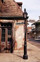 Outside Jean Lafitte´s Blacksmith Bar. Bourbon Street. The French Quarter. New Orleans. Lousiana. USA