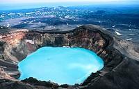 Crater ´Troitsky´ in Maly Semiachik volcano. Kamchatka. Russia