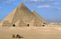 Pyramids of Gizeh. Egypt