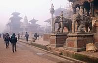 Durbar Square in Bhaktapur. Kathmandu. Nepal