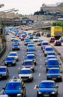 Car queues. Stockholm. Sweden