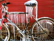Ice on bike