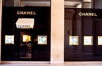 Chanel shop at Place Vendome. Paris. France