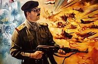 Saddam Hussein´s propaganda poster. Bagdad. Iraq