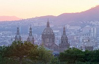 National Palace seen from Montjuic. Barcelona. Spain