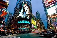 NASDAQ, Times Square. New York City, USA