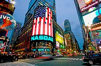 NASDAQ, Times Square. New York City, USA