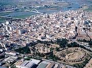 Aerial view of merida. Badajoz province. Extremadura. Spain
