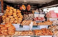 Pastries seller, old Jaffa. Tel Aviv, Israel
