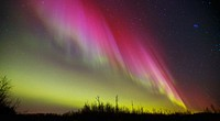 Northern Lights over Elk Island National Park, Alberta Canada