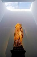 Roman statue at Necropolis Museum. Carmona. Andalucia. Spain