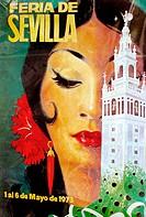 Antique ´Feria de Abril´ posters. Sevilla.  Andalucia. Spain