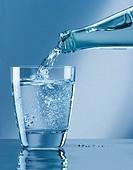 Bottle water glass.