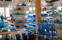 Gordiola glass factory shop. Manacor, Majorca. Balearic Islands. Spain