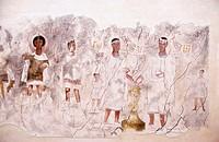 Syria. Deir Ez-Zor frescoes from Dura Europos in the museum