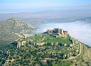 Calatrava la Nueva castle complex. Ciudad Real province, Castilla-La Mancha. Spain