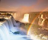 Florian fall, Iguazú waterfalls. Brazilian side, Paraná state, Brazil