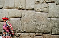 Incan wall of Archiepiscopate Palace. Cuzco. Peru.