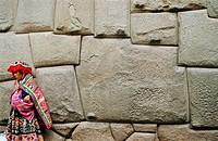 Incan wall of Archiepiscopate Palace. Cuzco. Peru.