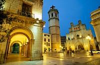 Cathedral of Santa Maria and ´El Fadrí belltower, Castellón. Comunidad Valenciana, Spain