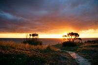 Sunset. Parque Natural del Estrecho. Tarifa. Cadiz province. Spain