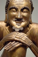 Statue of wise man. Asian Art Museum. San Francisco. California. United States