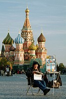 Street seller. Red Square. Moscow. Russia
