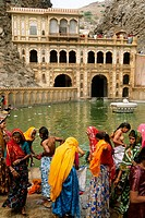 Festival. Galta Temple. Jaipur. Rajasthan. India.